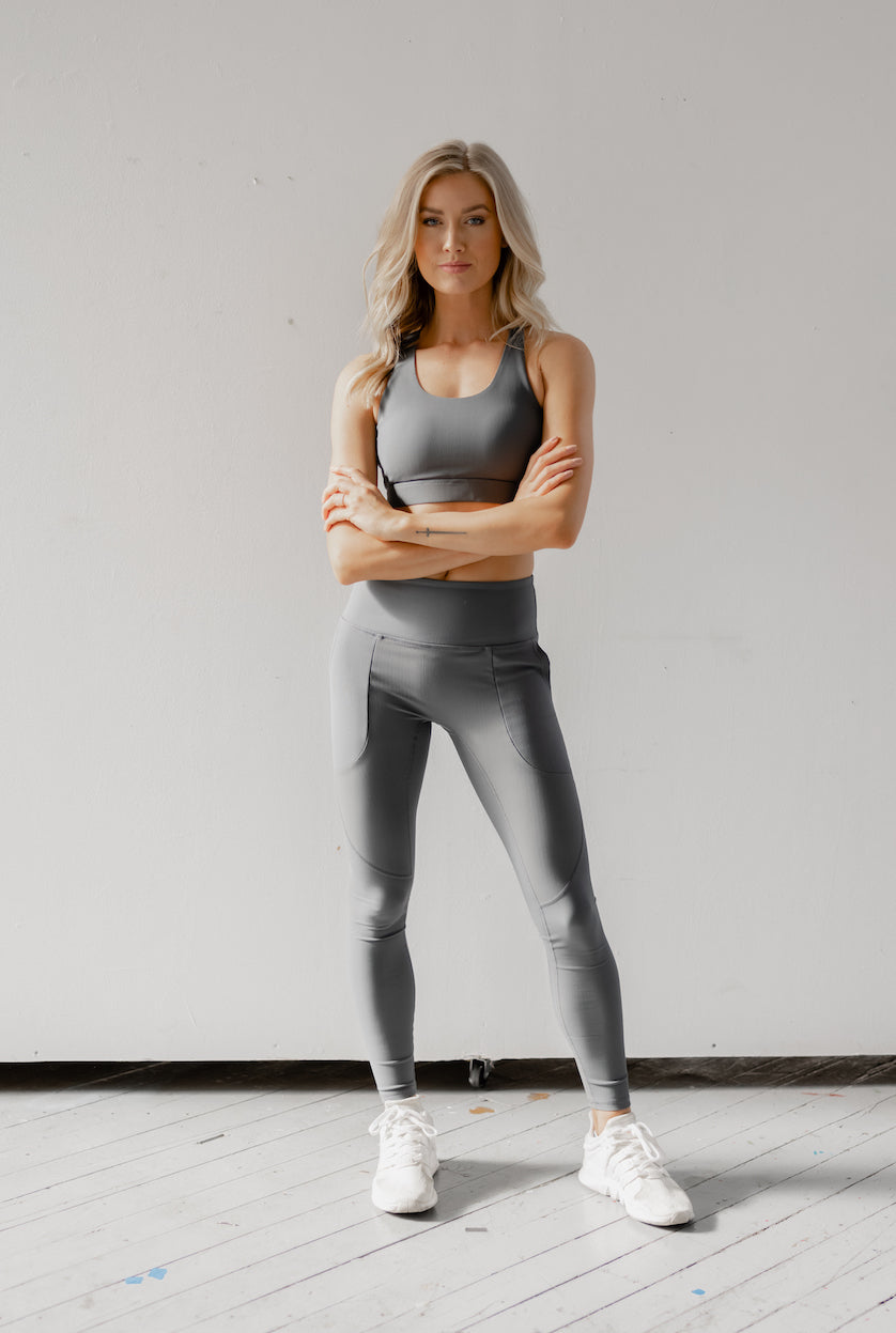 Astoria LUXE ESSENTIAL Full Length Legging - Stone Grey