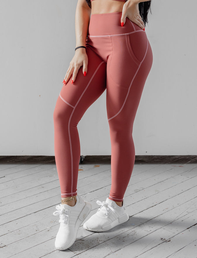 Astoria LUXE ESSENTIAL Full Length Legging - Faded Ruby