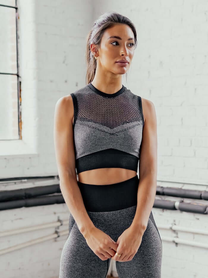 Astoria APEX Mesh Crop - Grey/Black