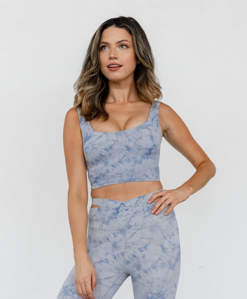 Astoria LUXE CLOUD Open Back Sports Crop - Blue