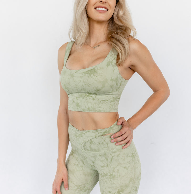 Astoria LUXE CLOUD Open Back Sports Crop - Green