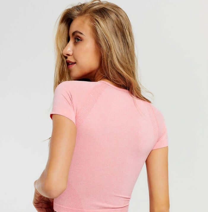 Astoria Seamless Cropped Tee - Pink