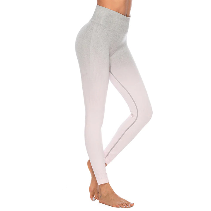 Astoria Seamless Ombre Legging - Light Pink/Grey