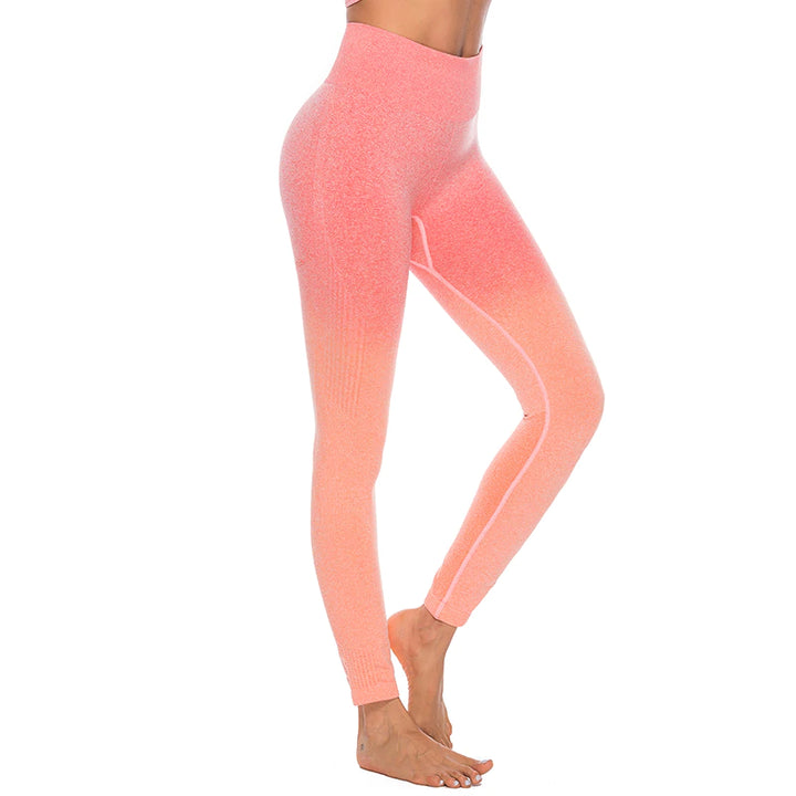 Astoria Seamless Ombre Legging - Orange Red