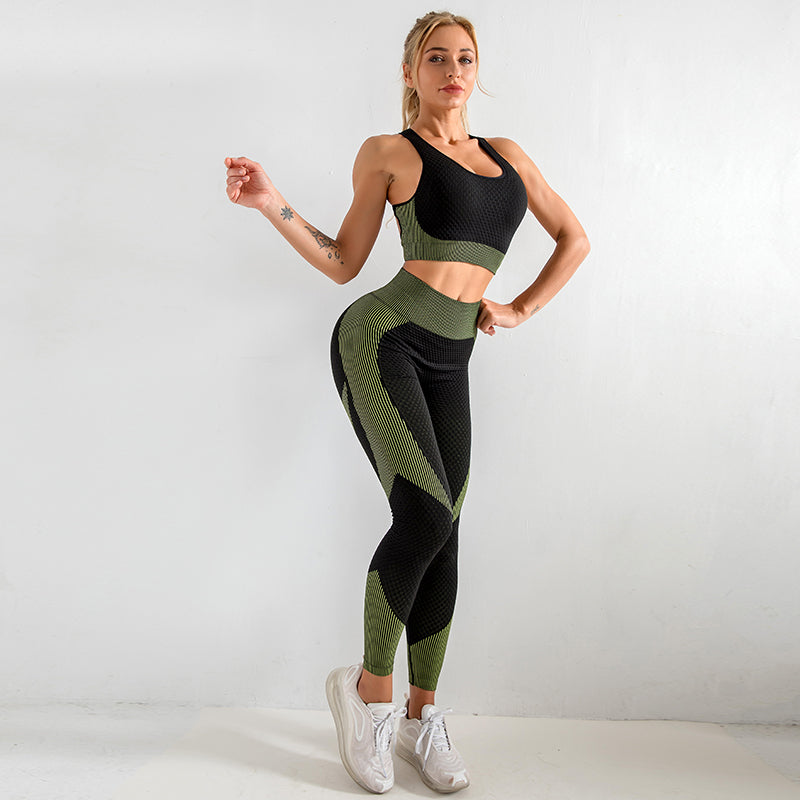 Astoria MOMENTUM Sports Crop - Lime/Black