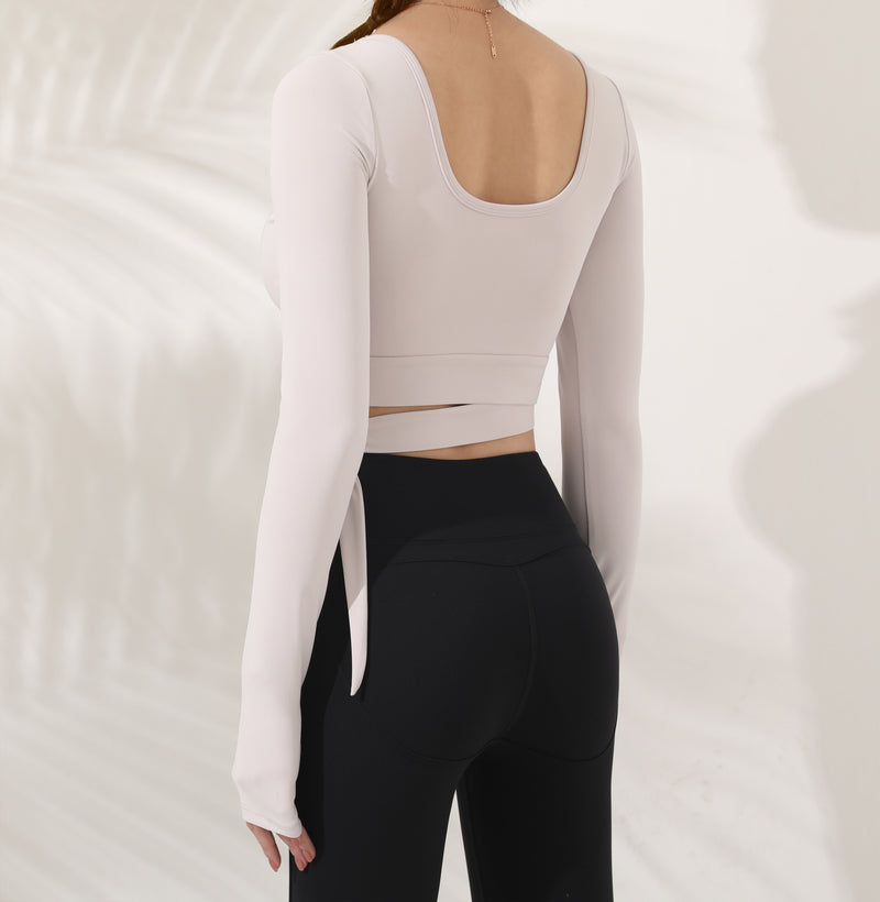 Astoria LUXE Bow Sports Crop - White