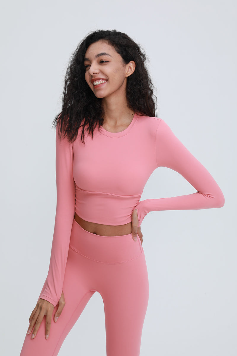 Astoria LUXE Max Support Sports Crop - Taffy Pink