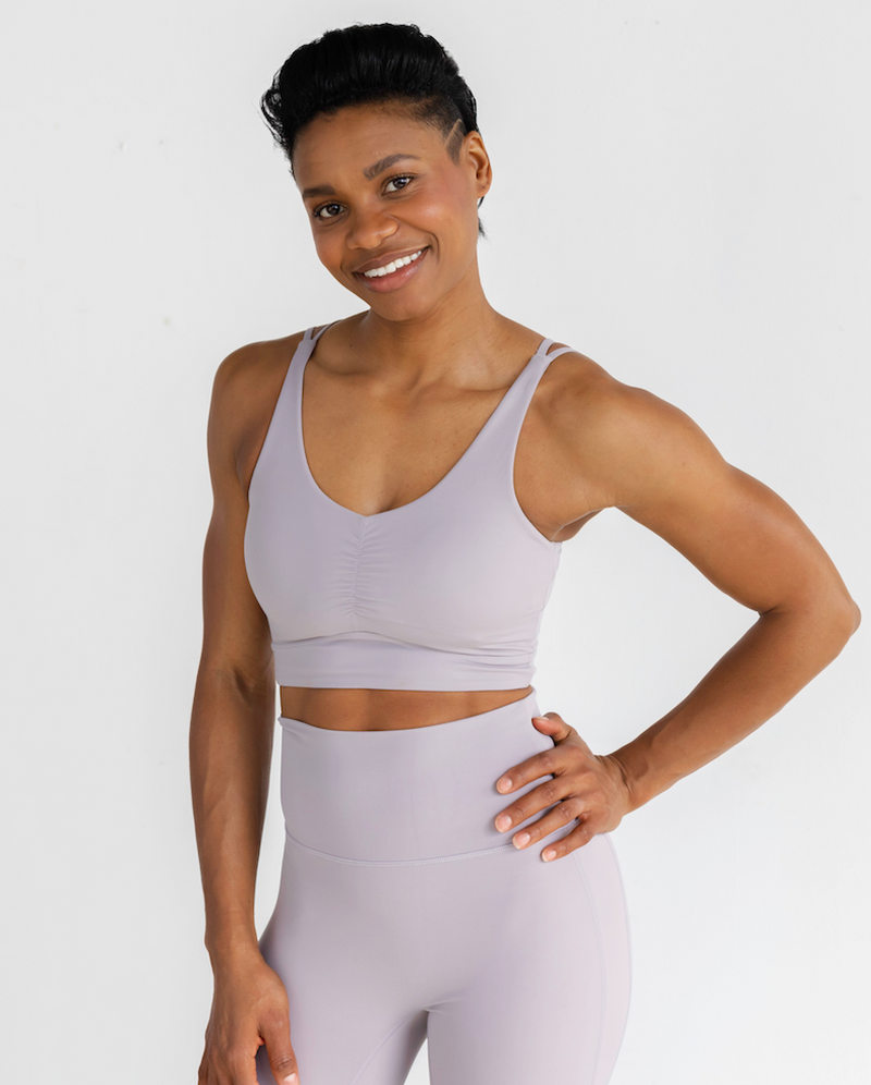 Astoria LUXE BREEZE Sports Crop - Lilac Grey