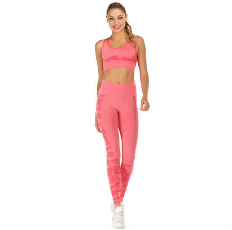 Astoria Seamless CAMO Sports Bra - Pink