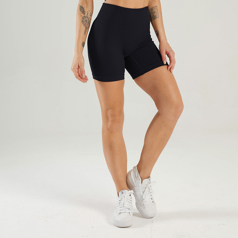 Astoria LUXE Ribbed Series Short - Black