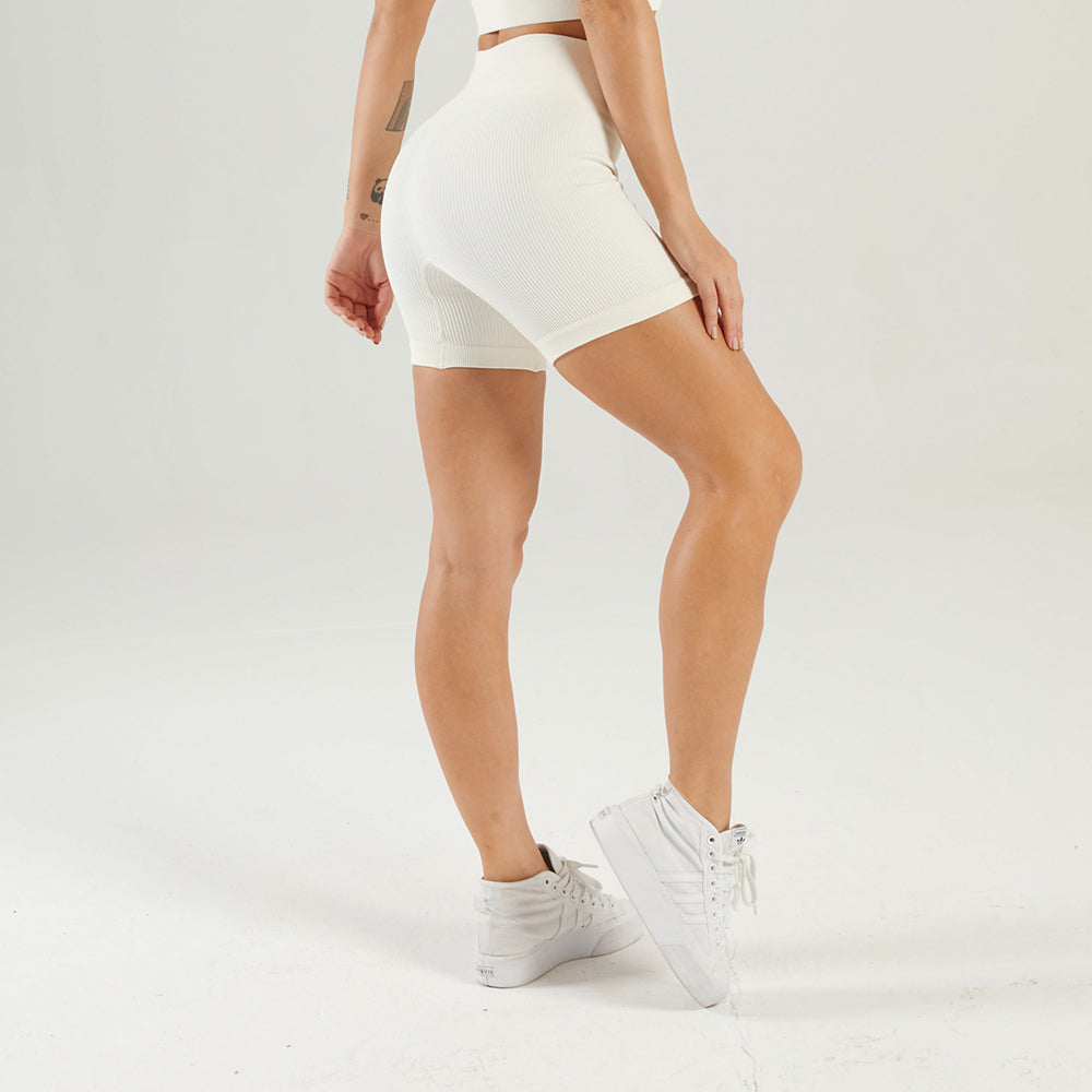 Astoria LUXE Ribbed Series Short - Creme