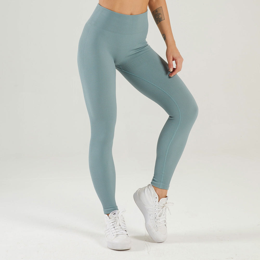 Astoria LUXE Ribbed Series Legging - Stone Blue