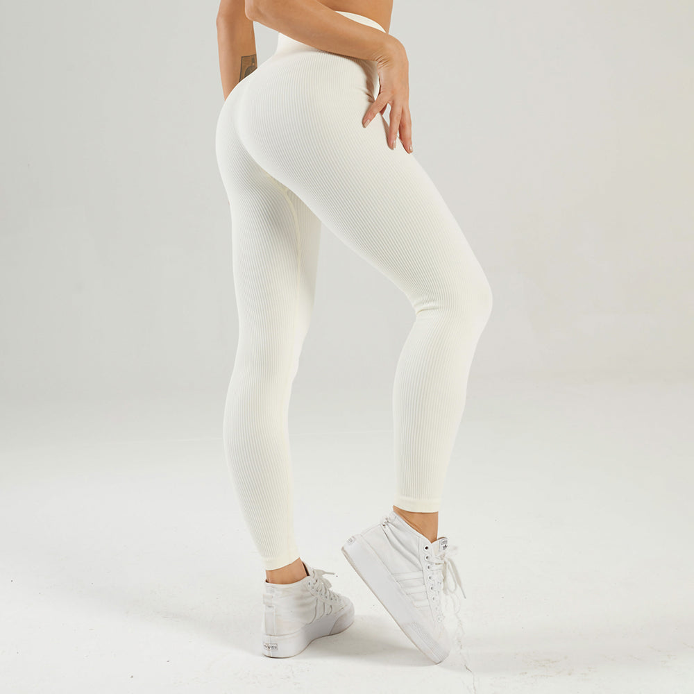 Astoria LUXE Ribbed Series Legging - Creme