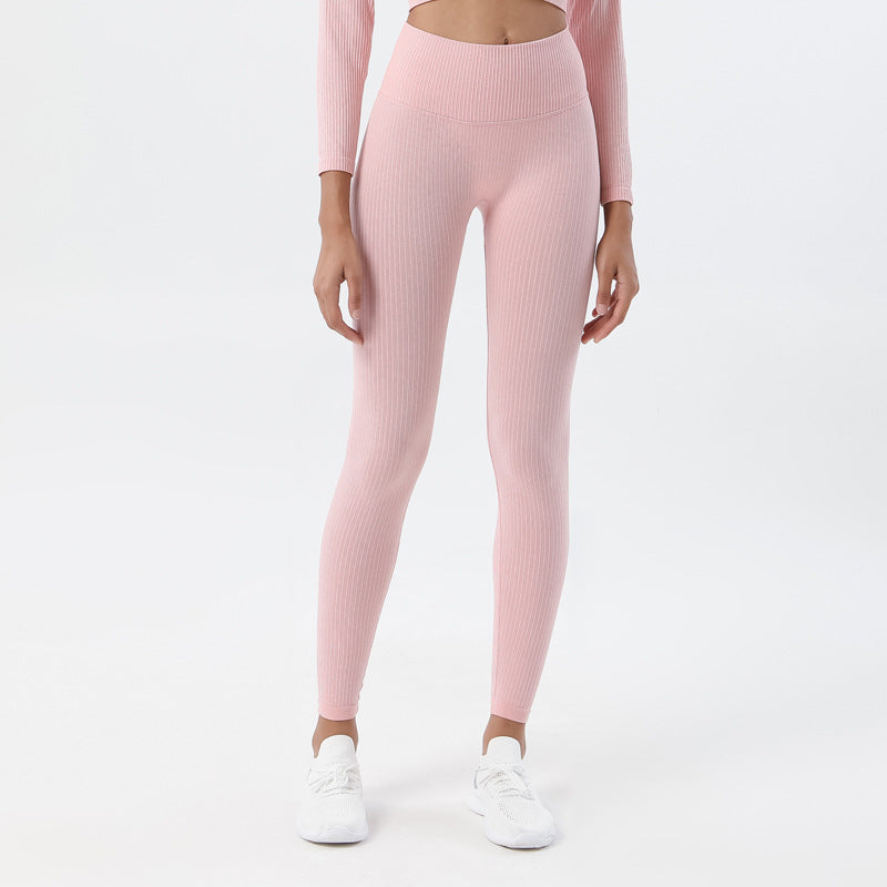 Astoria Seamless Ribbed Legging - Soft Pink