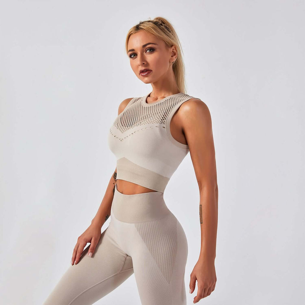 Astoria APEX Mesh Crop - Khaki