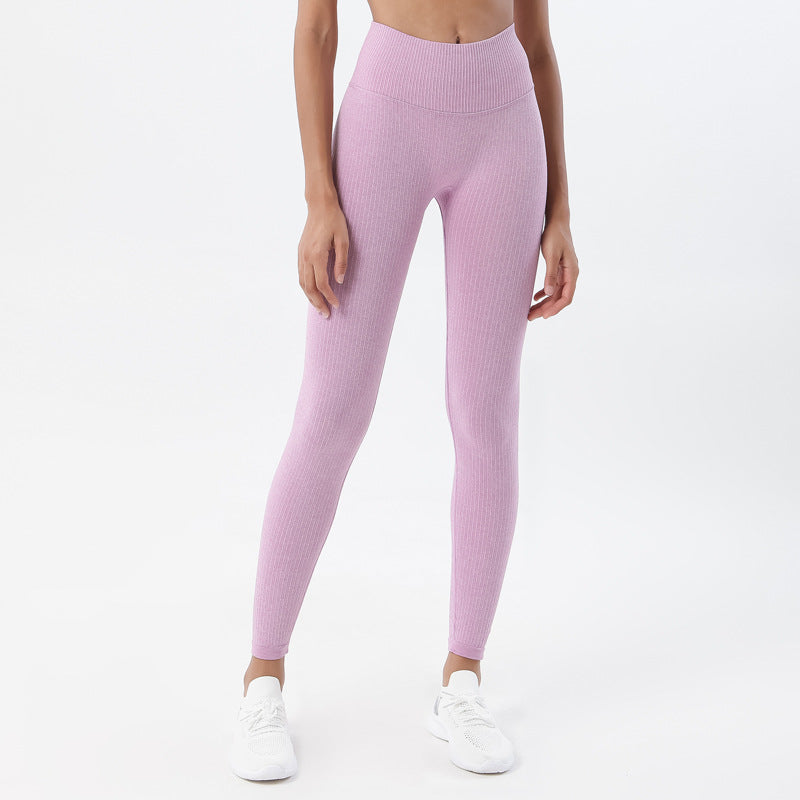 Astoria Seamless Ribbed Legging - Rose Pink
