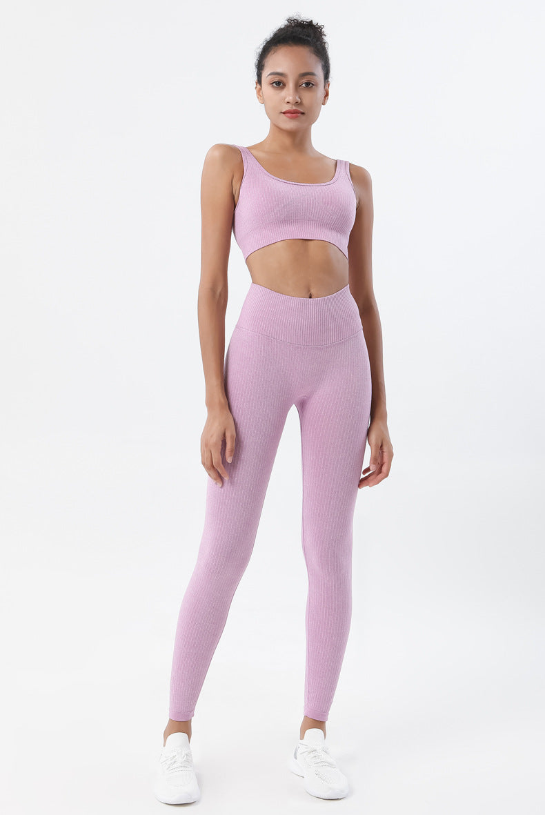 Astoria Seamless Ribbed Sports Bra - Rose Pink
