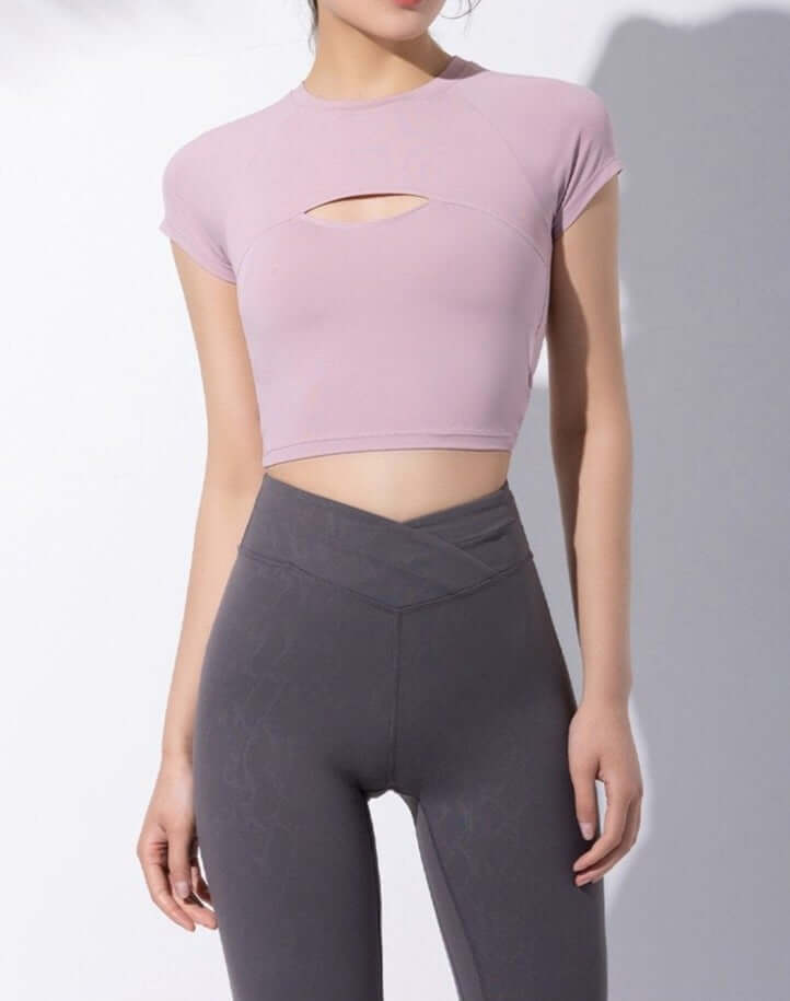 Astoria LIVE LUXE Crossover Sports Crop - Mauve