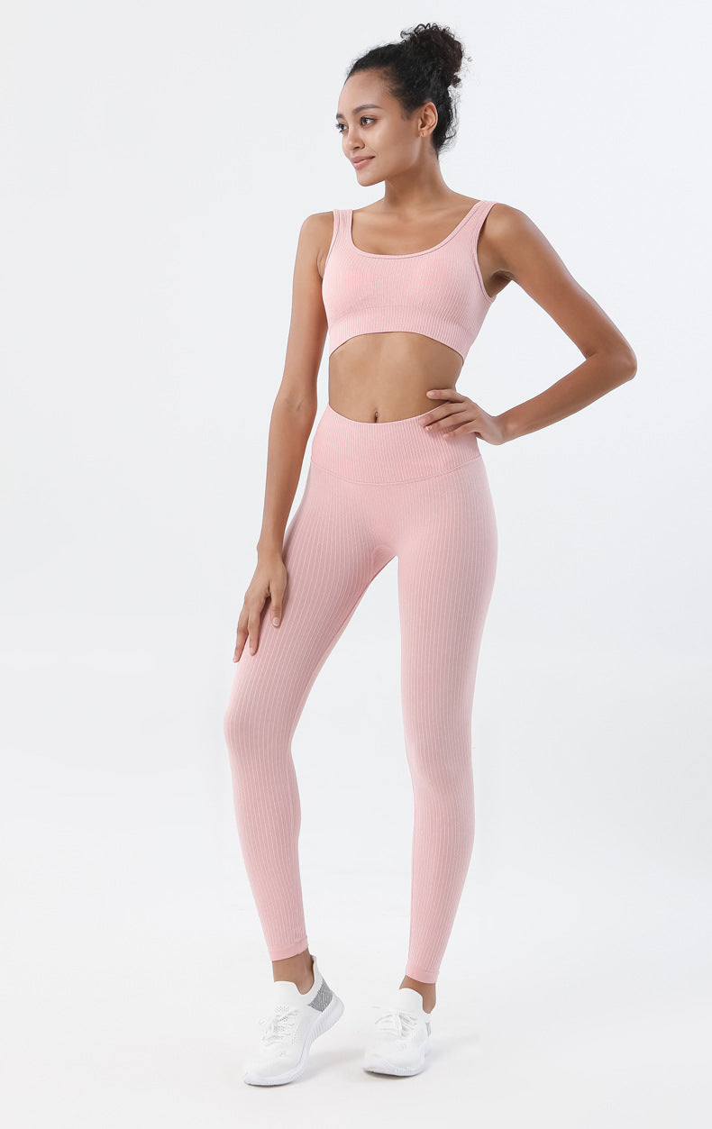 Astoria Seamless Ribbed Sports Bra - Soft Pink