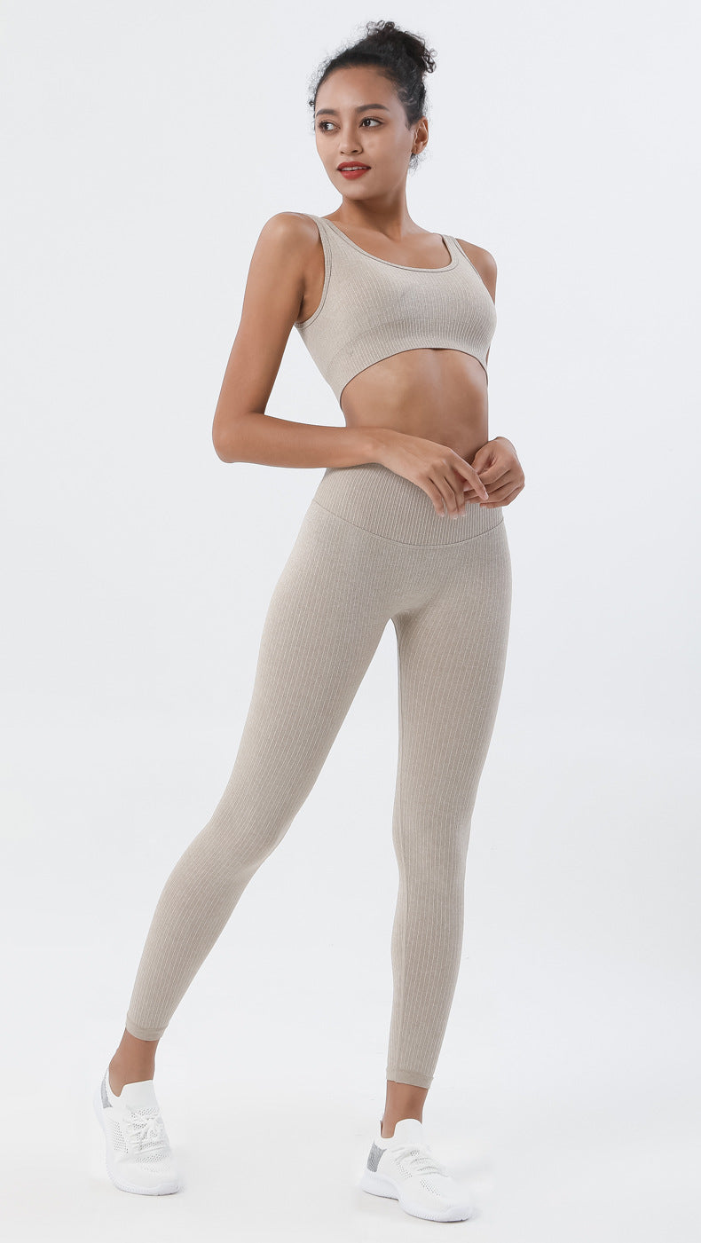 Astoria Seamless Ribbed Legging - Khaki