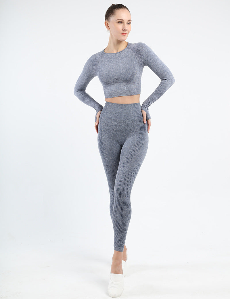 Astoria VELOCITY Sleeved Crop - Ash Blue