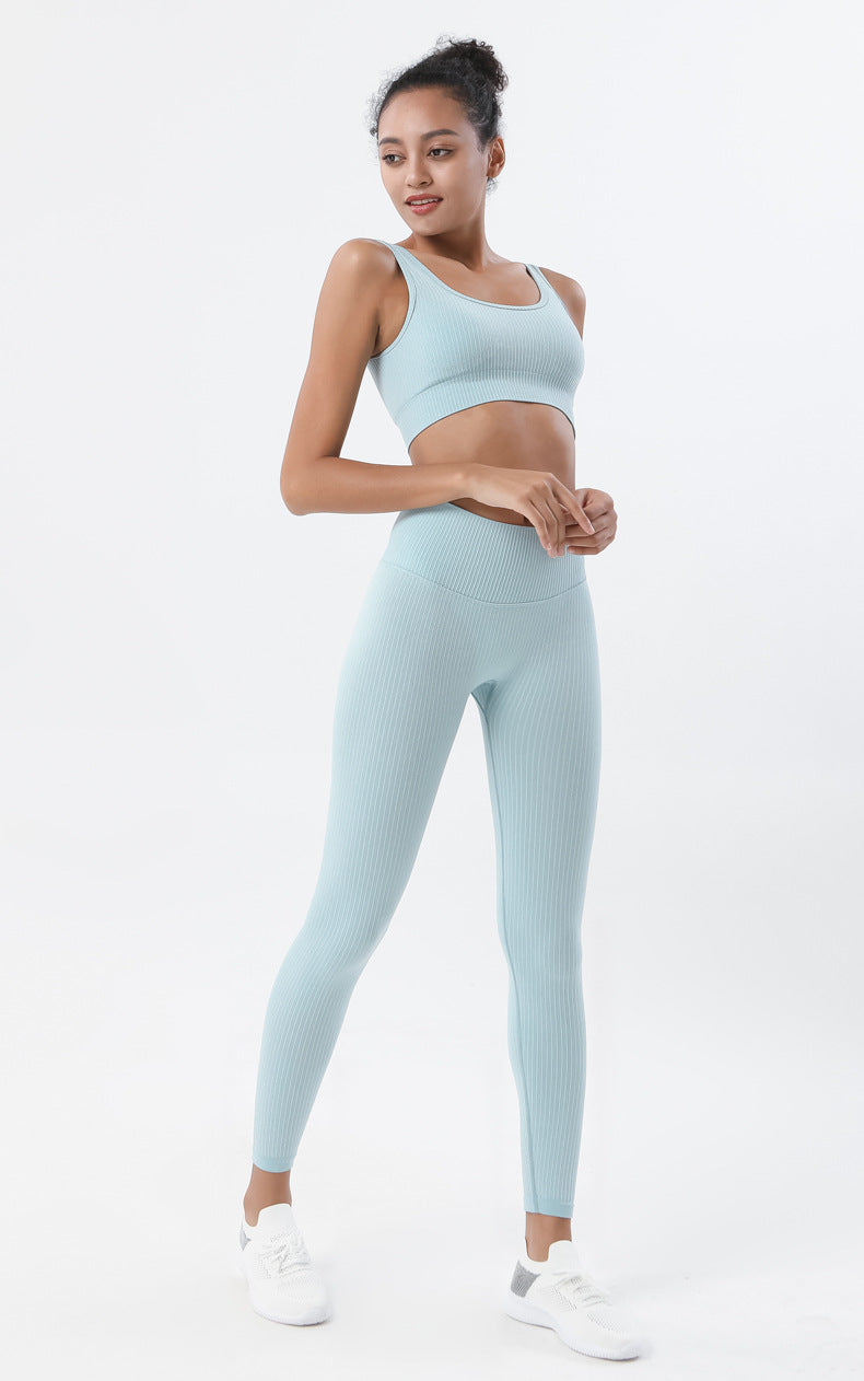 Astoria Seamless Ribbed Sports Bra - Aqua