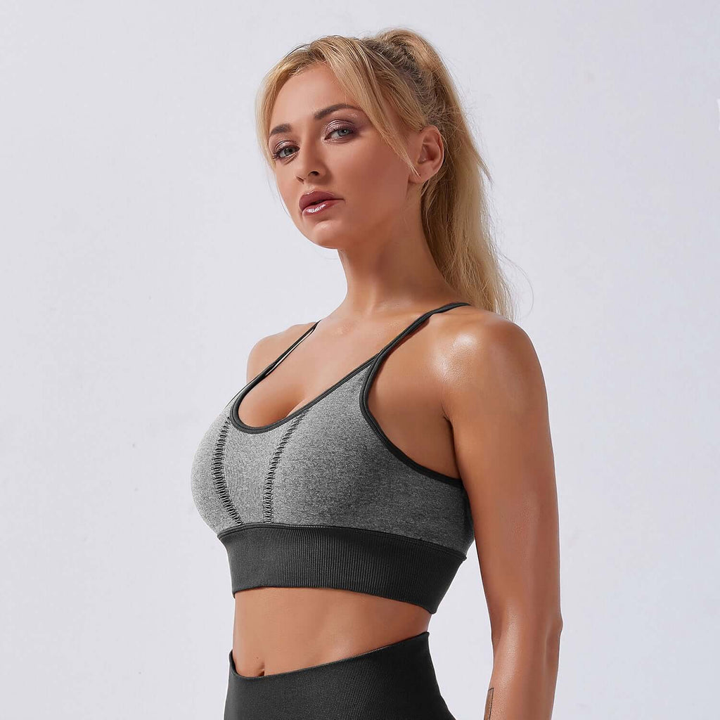 Astoria APEX Sports Bra - Grey/Black