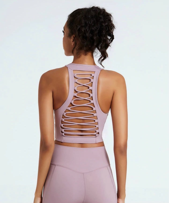 Astoria LUXE SURGE Sports Crop - Mauve