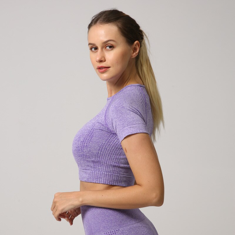 Astoria VELOCITY Cropped Tee - Purple