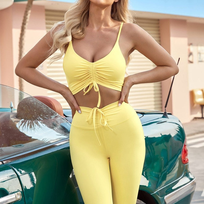 Astoria LUXE BLISS Sports Crop - Pastel Yellow