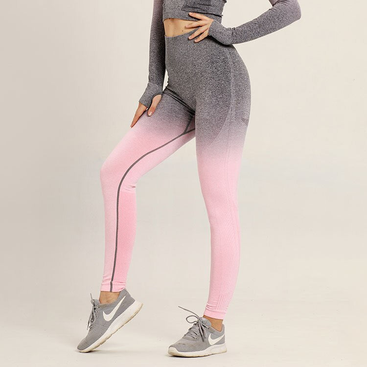 Astoria Seamless Ombre Legging - Grey/Pink