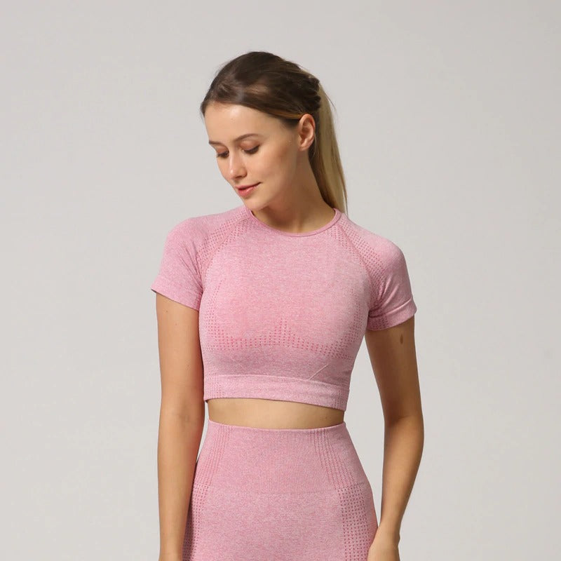 Astoria VELOCITY Cropped Tee - Candy Pink