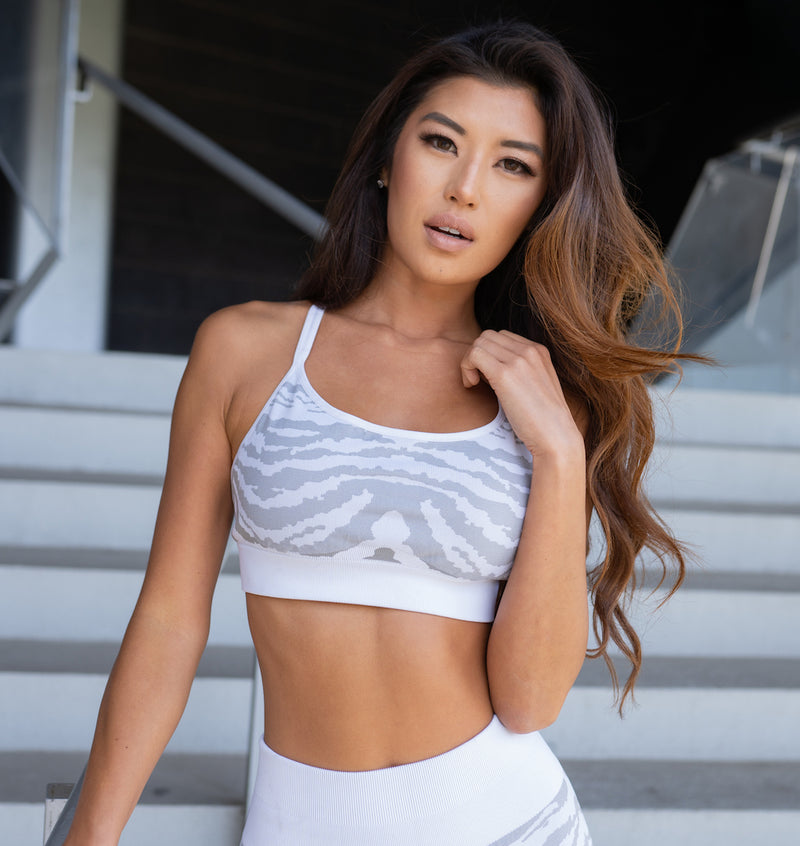 Astoria SURGE Sports Bra - Grey/White
