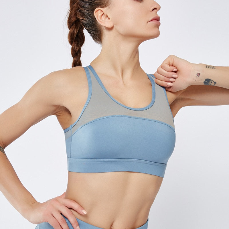 Astoria LUXE Mesh Sports Bra - Blue