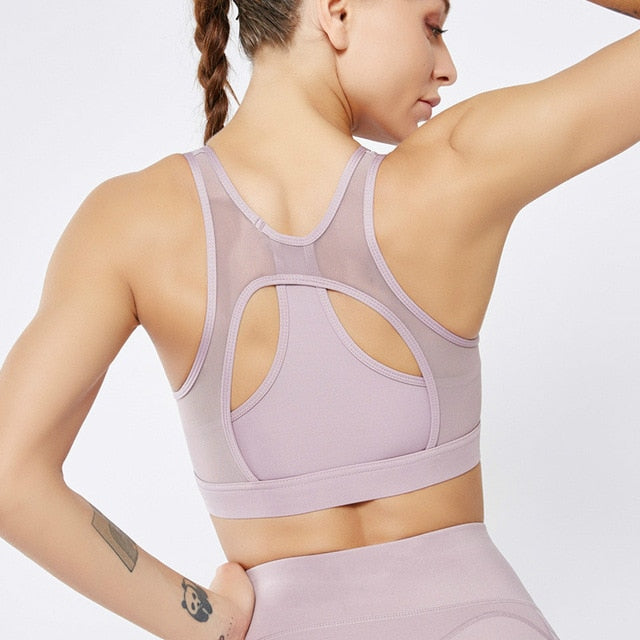 Astoria LUXE Mesh Sports Bra - Mauve