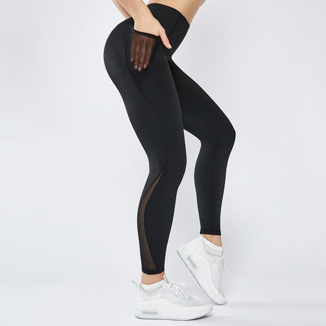 Astoria LUXE Mesh Full Length Legging - Black