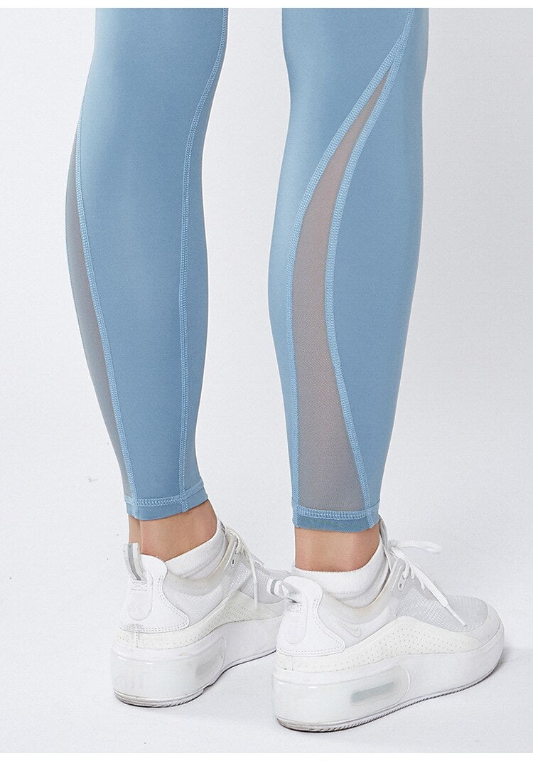 Astoria LUXE Mesh Full Length Legging - Blue