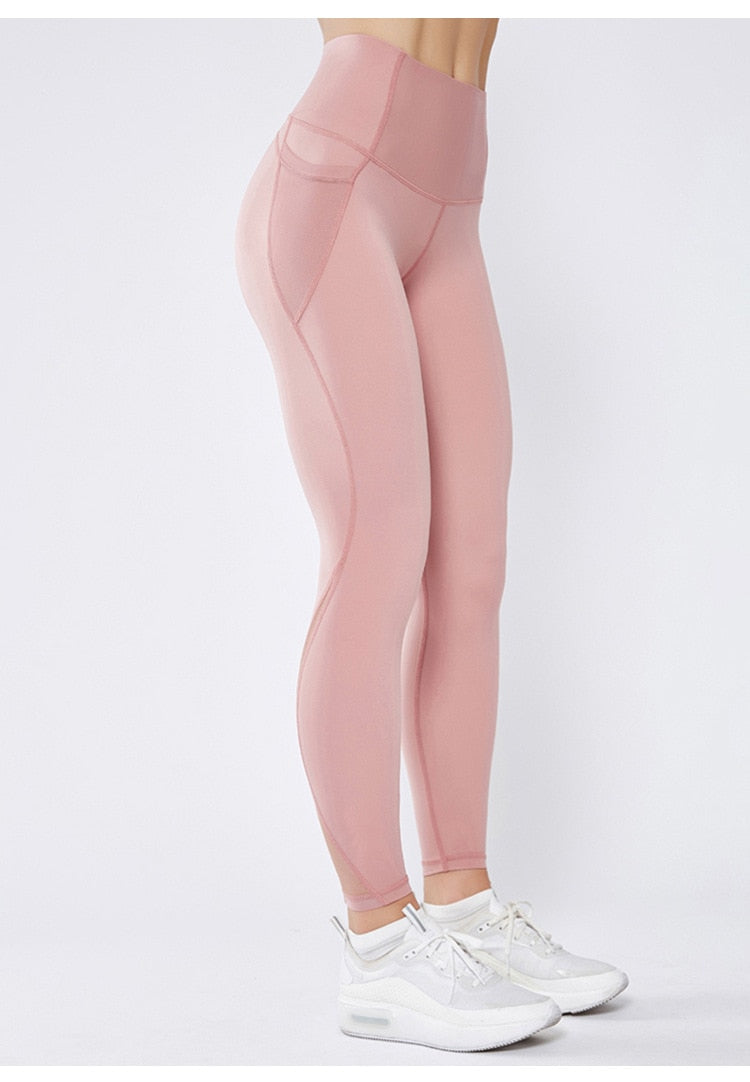 Astoria LUXE Mesh Full Length Legging - Soft Pink
