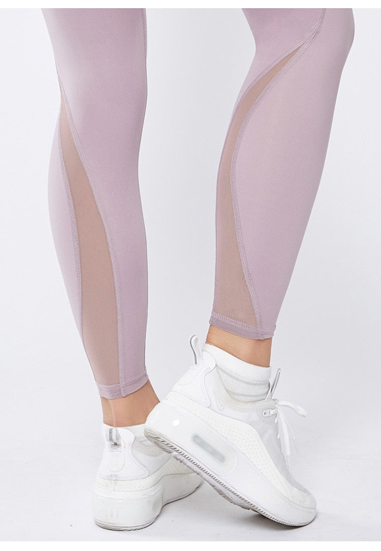 Astoria LUXE Mesh Full Length Legging - Mauve