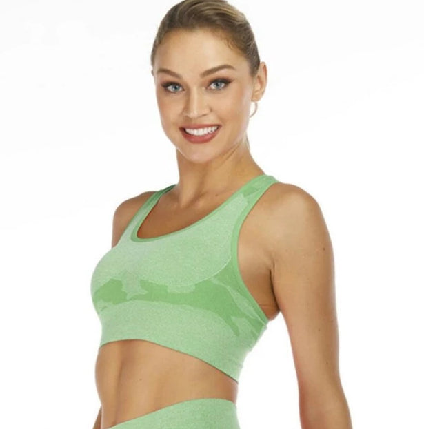 Astoria Seamless CAMO Sports Bra - Green