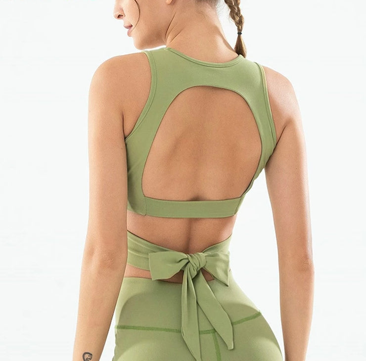 Astoria LUXE CHARGE Sports Crop - Green
