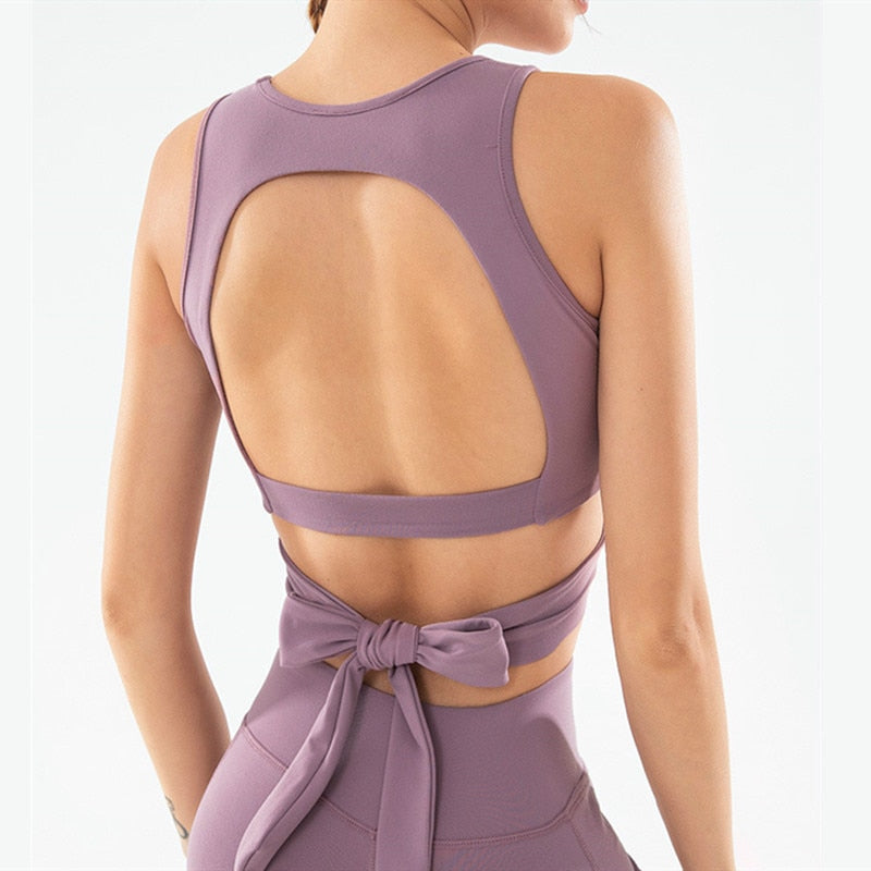 Astoria LUXE CHARGE Sports Crop - Purple