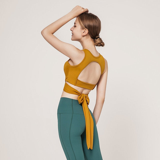 Astoria LUXE CHARGE Sports Crop - Gold
