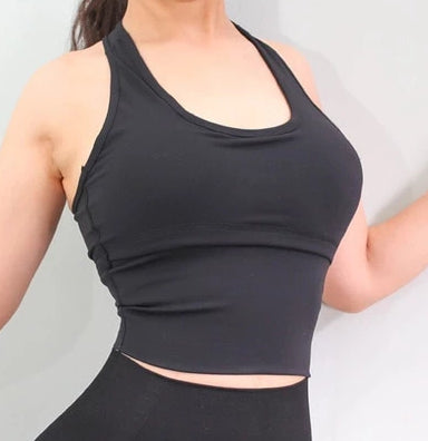Astoria LIVE LUXE Cut-Out Sports Crop - Black