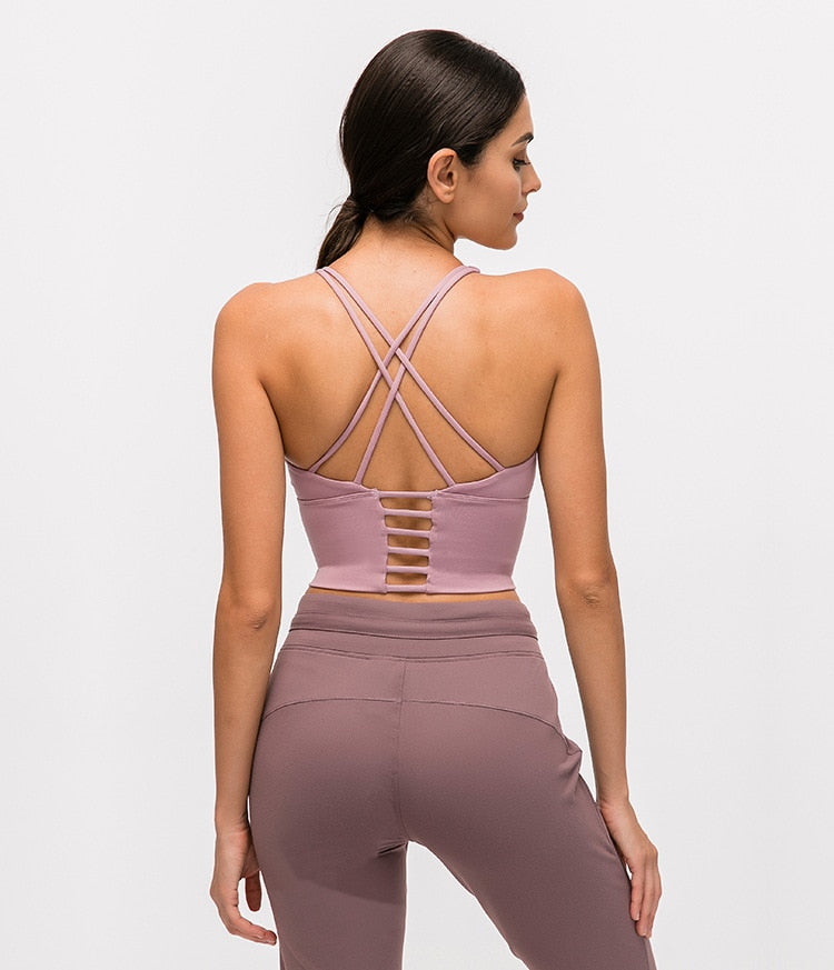 Astoria Seamless Sculpt Sports Crop - Pink Mauve