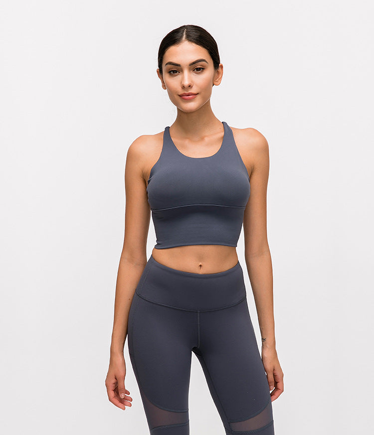 Astoria Seamless Sculpt Sports Crop - Grey