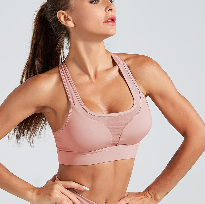 Astoria LUXE 'Never Give Up' Series Sports Crop - Pink