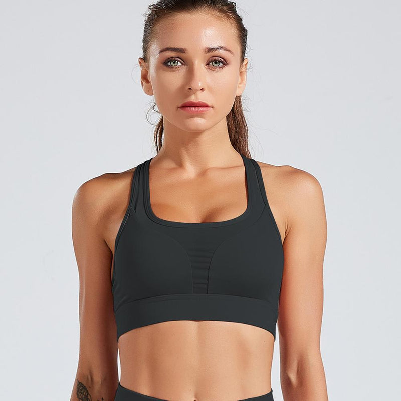 Astoria LUXE 'Never Give Up' Series Sports Crop - Black