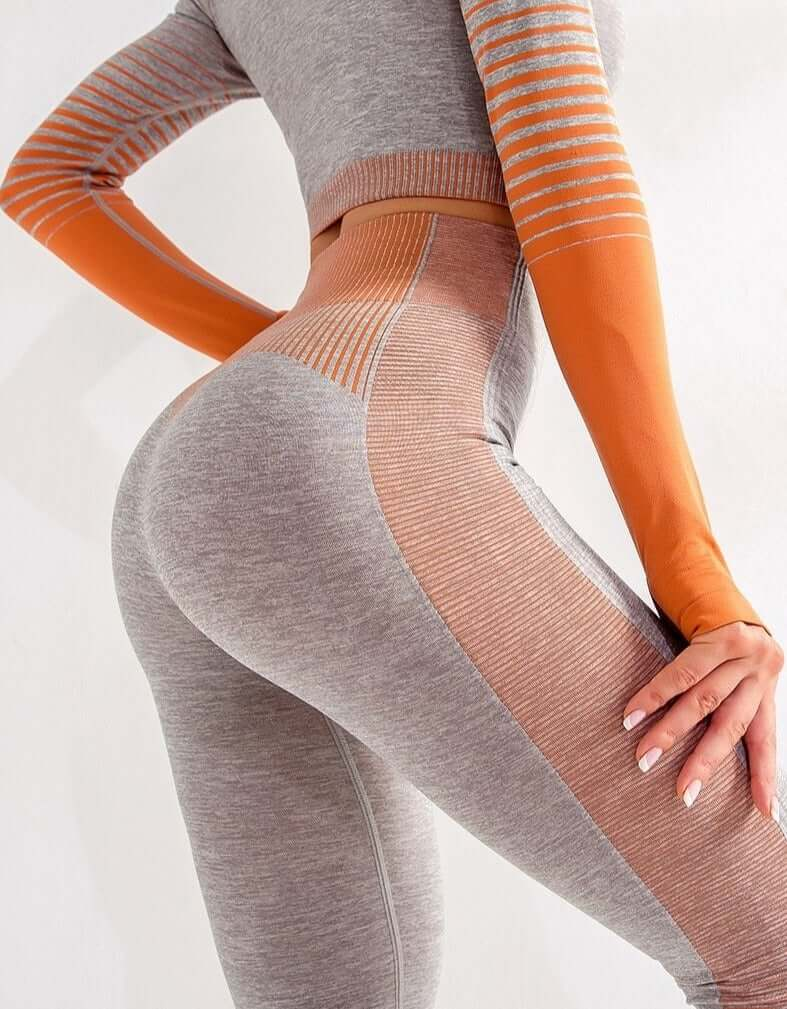 Astoria ENERGY Full Length Legging - Grey/Orange