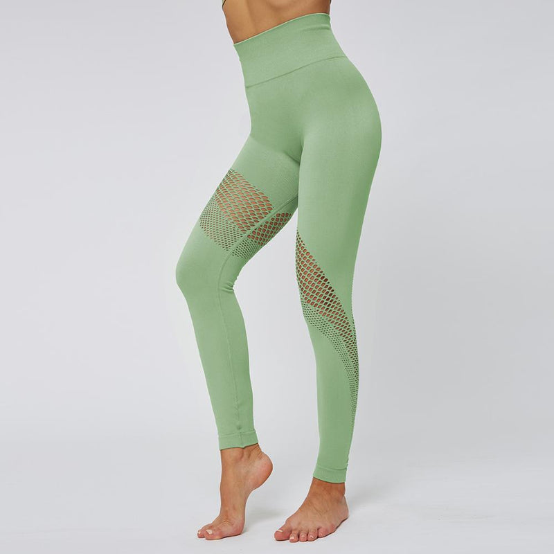 Astoria Seamless Mesh 2.0 Full Length Legging - Green